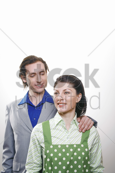 businessman and his wife stock photo