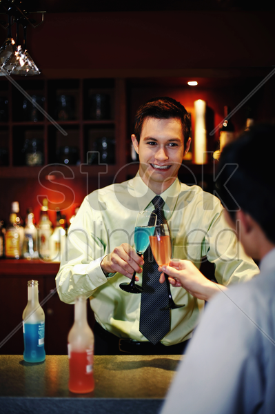 businessmen proposing a toast stock photo