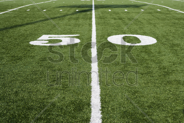 detail of american football field stock photo