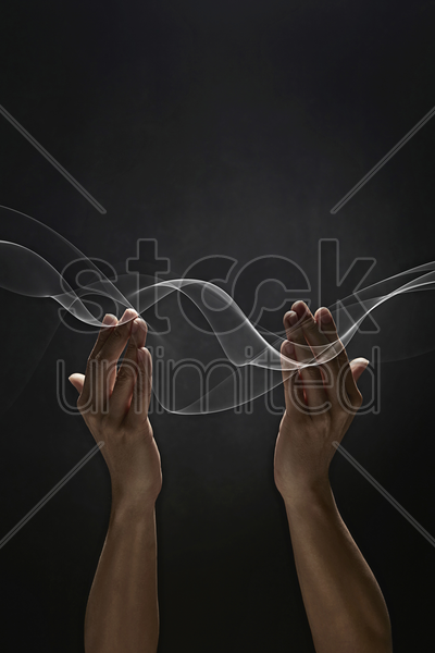 human hands showing praying gesture stock photo
