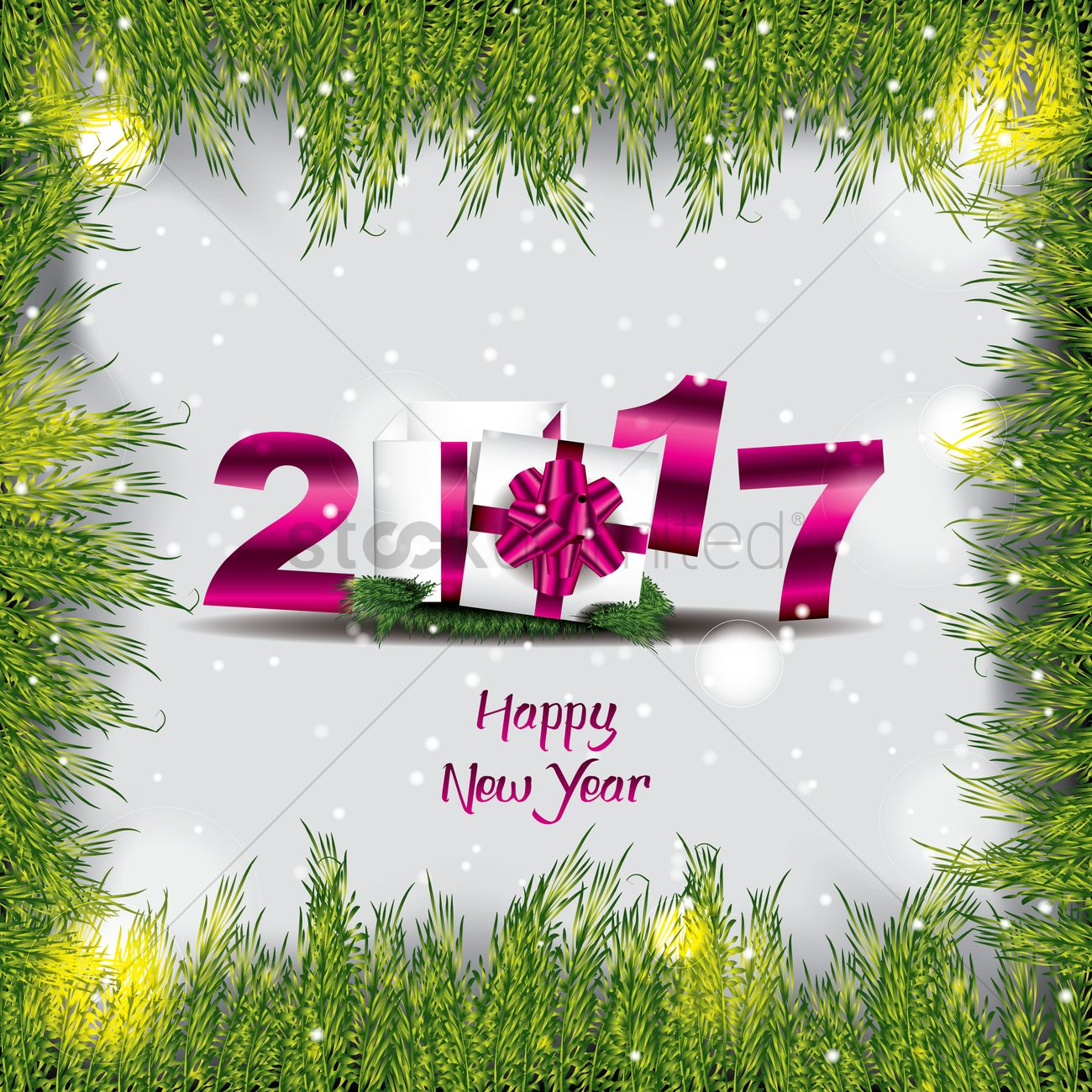 2017 happy new year greeting Vector Image - 1940238 | StockUnlimited
