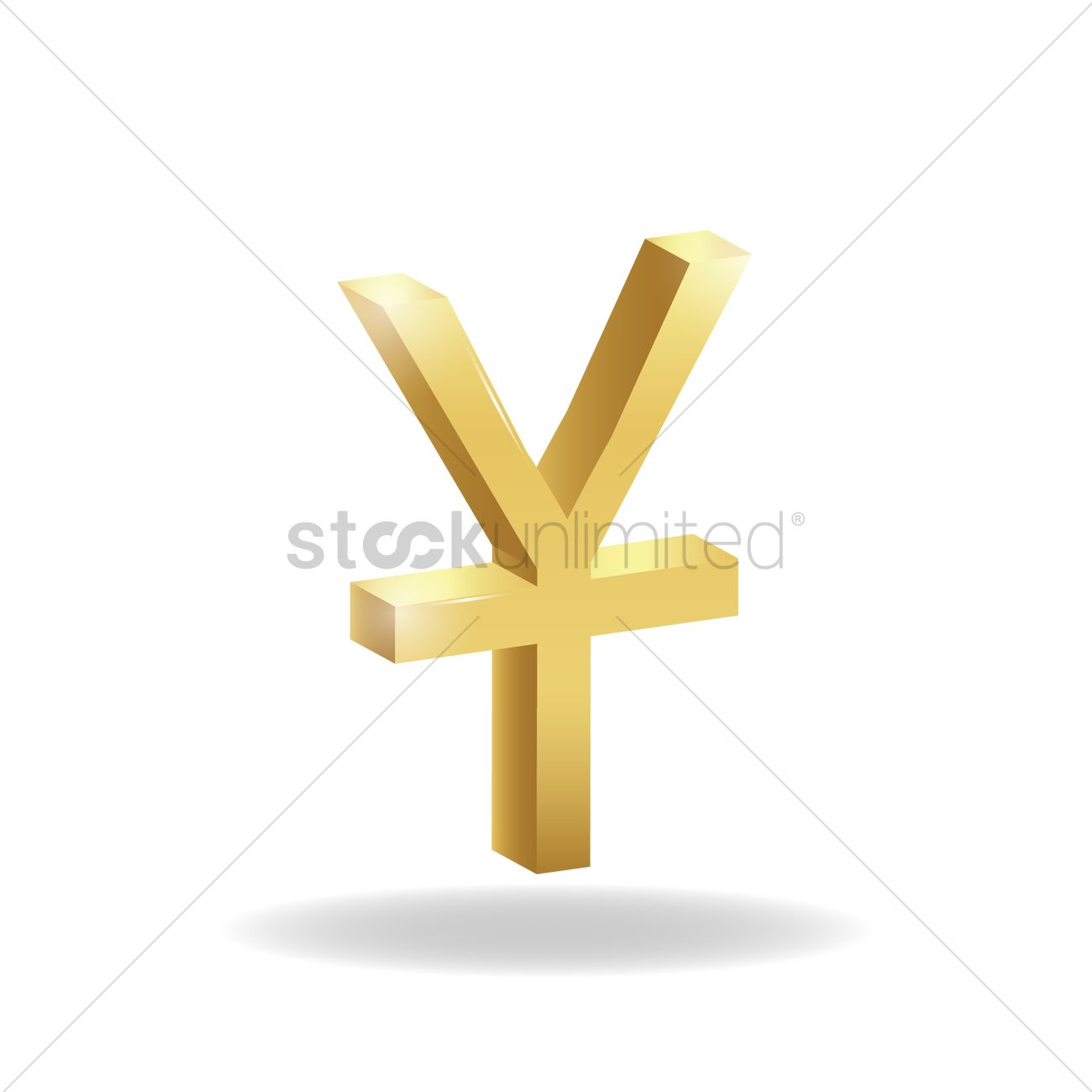 3d Chinese Yuan Currency Symbol Vector Image 1827766 Stockunlimited