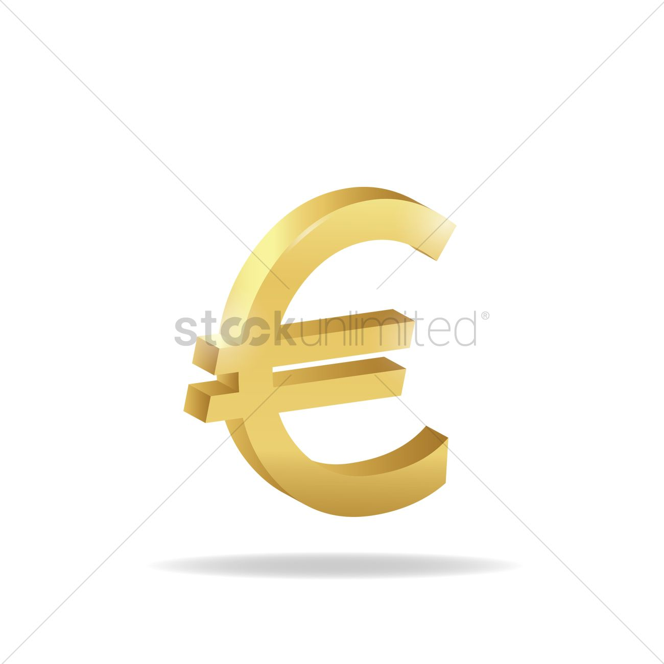 3d Euro Currency Symbol Vector Image 1827782 Stockunlimited