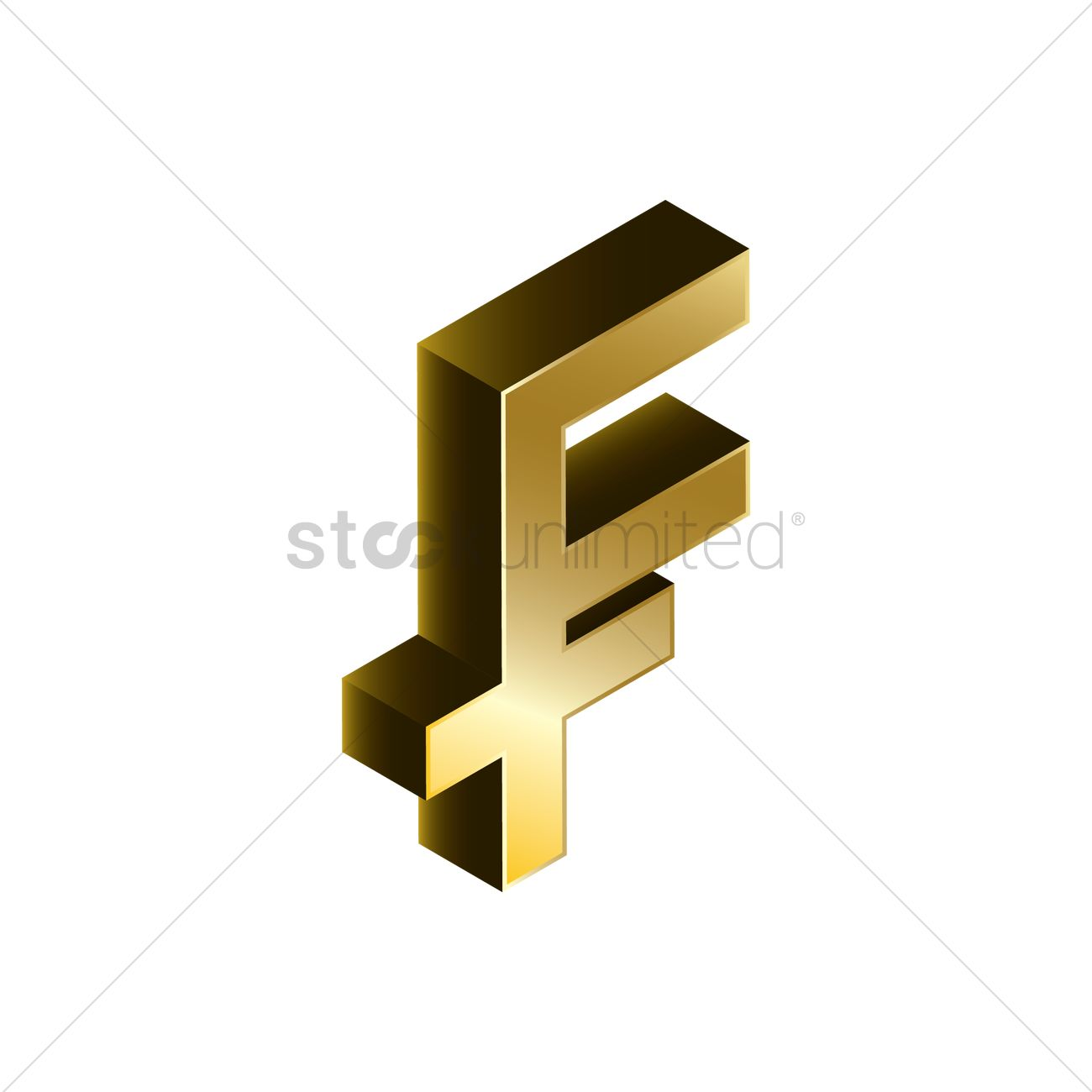 3d Franc Currency Symbol Vector Image 1827926 Stockunlimited