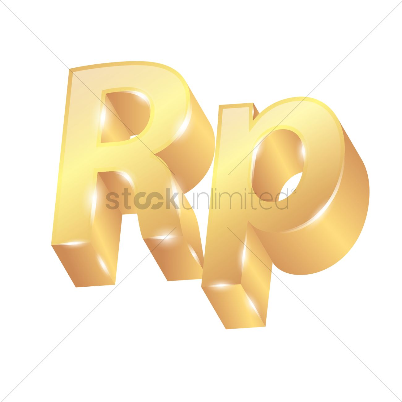 3d Rupiah Currency Symbol Vector Image 1828074 Stockunlimited