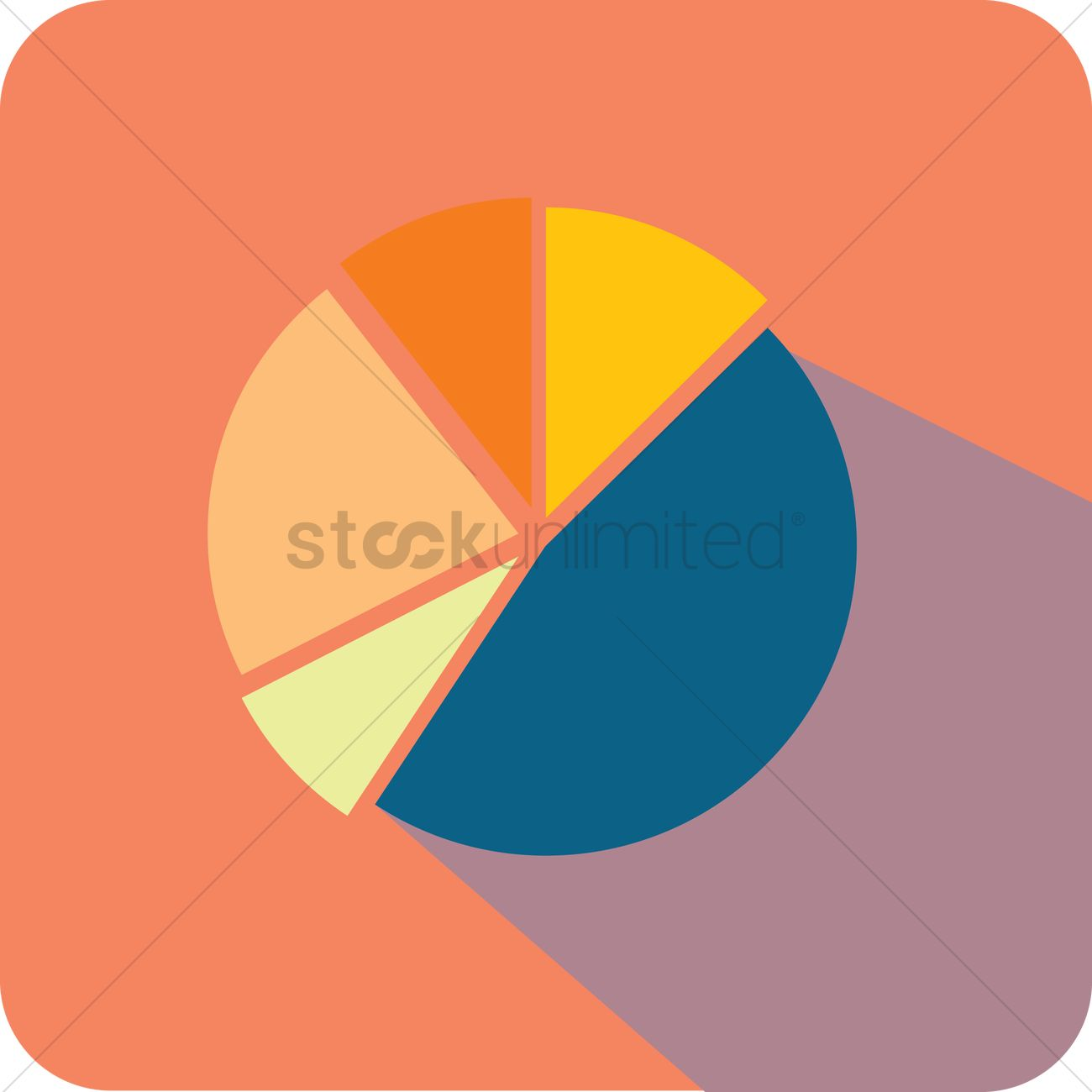 Free A Pie Chart Vector Image 1278770 Stockunlimited