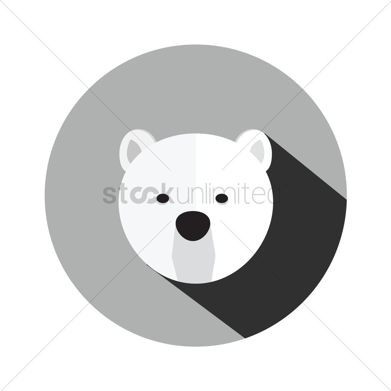 a polar bear head vector image 1293914 stockunlimited