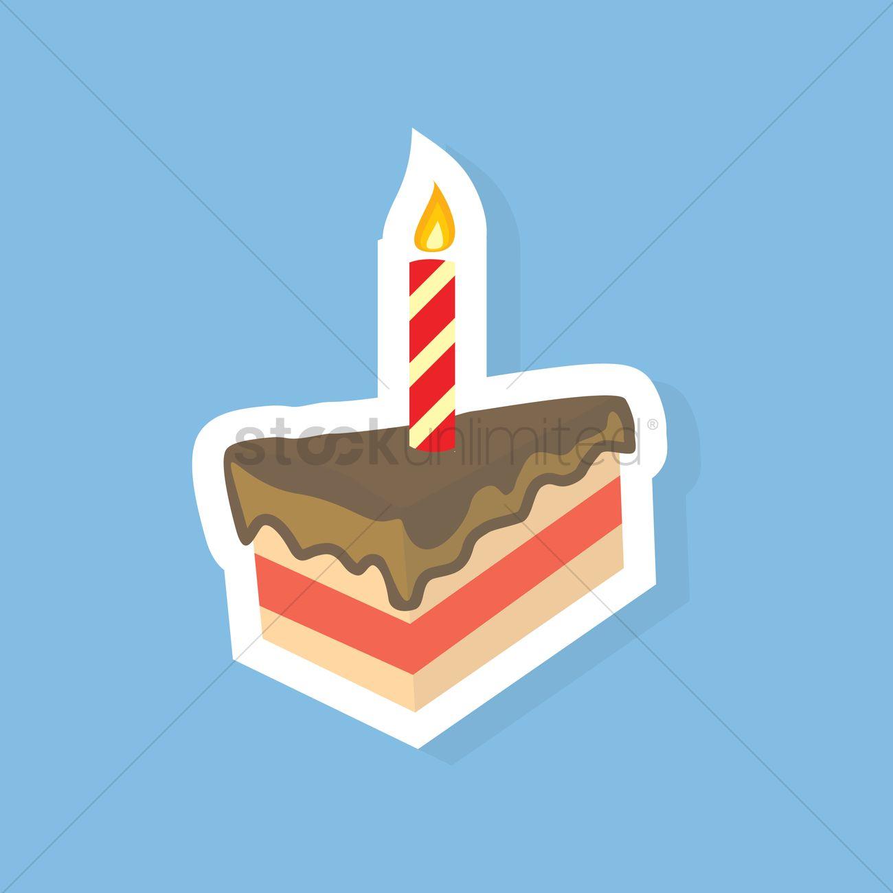 Strange Free A Slice Of Birthday Cake Vector Image 1242954 Stockunlimited Personalised Birthday Cards Paralily Jamesorg