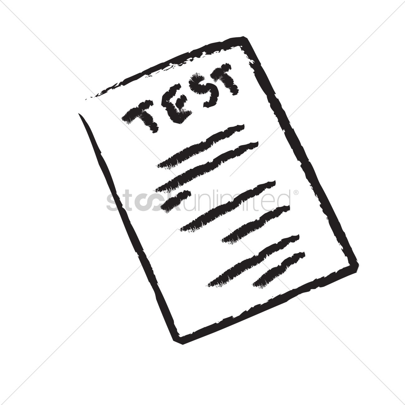 A test paper vector image 1241562 stockunlimited a test paper vector graphic stopboris Image collections
