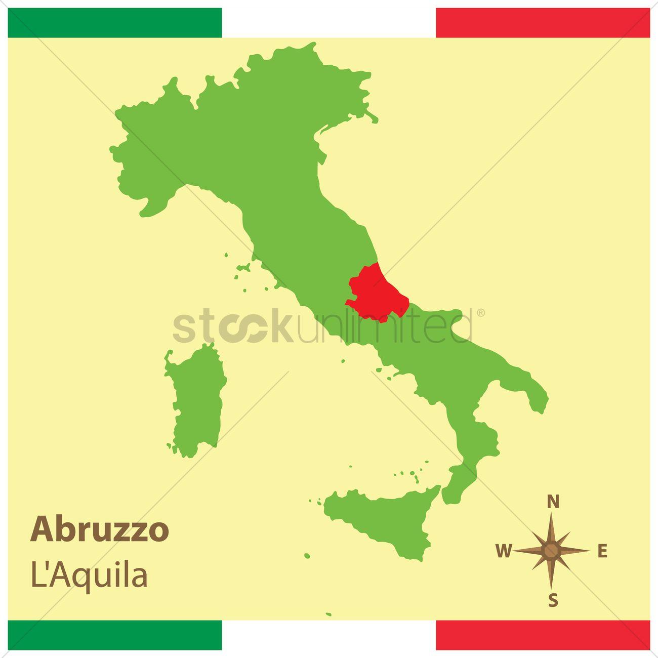 Aquila Italy Map.Abruzzo On Italy Map Vector Image 1583946 Stockunlimited