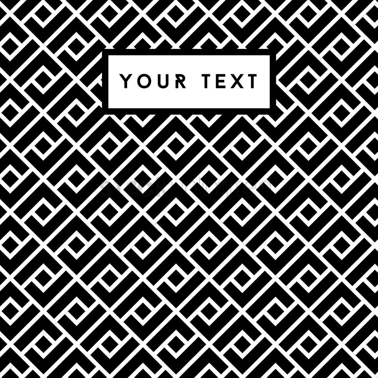 Free Abstract Black And White Background Vector Image