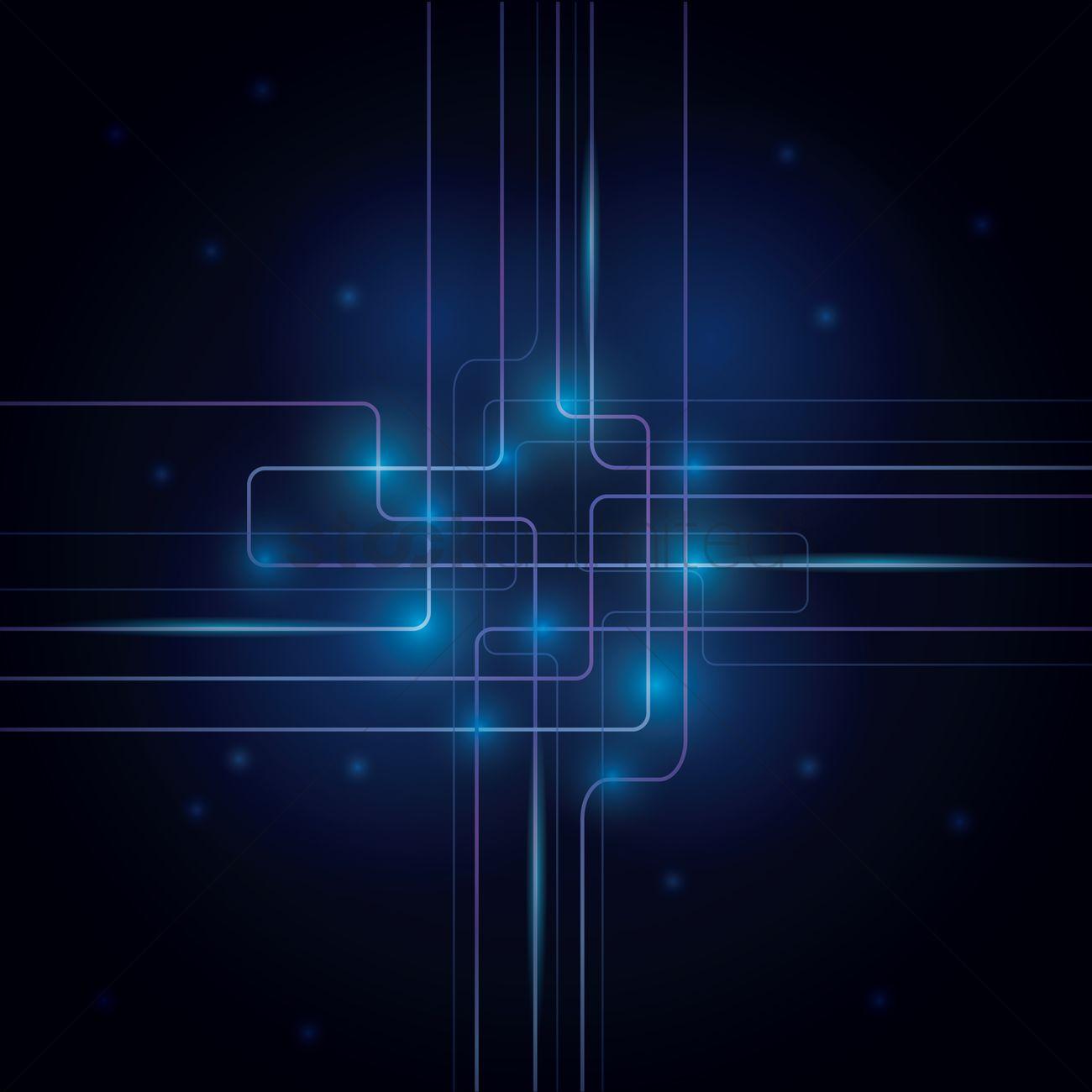 Abstract Circuit Board Design Vector Image 1648214