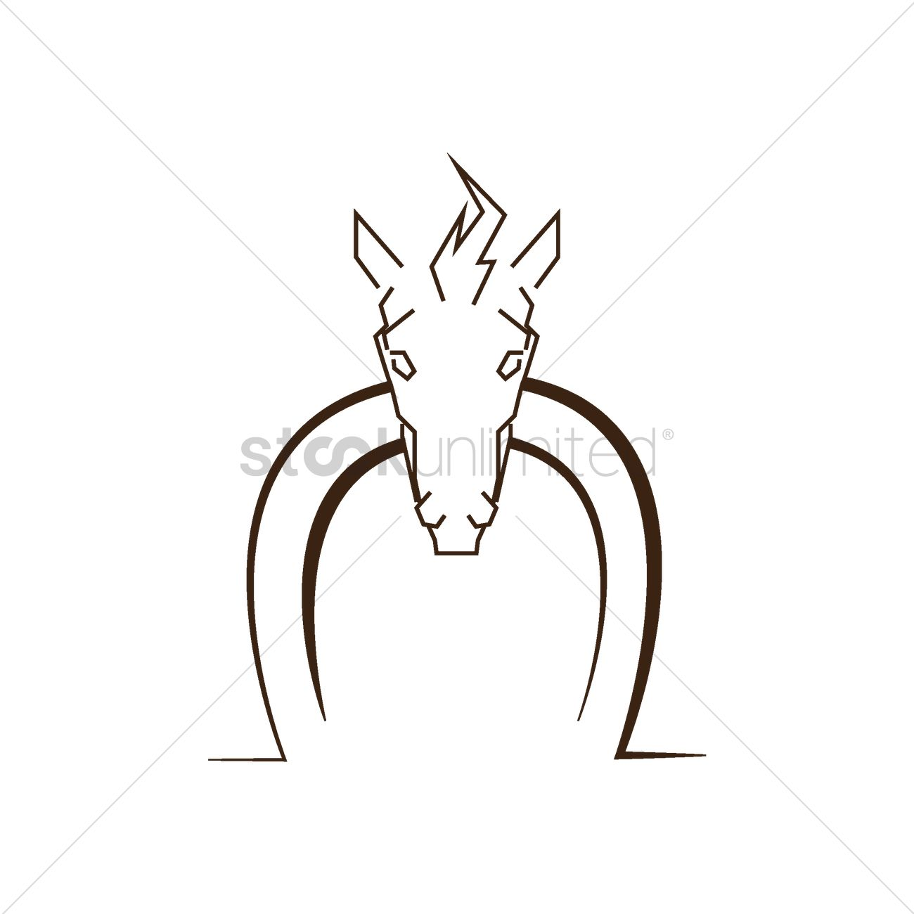 Abstract Horse Face Icon Vector Image 1484982 Stockunlimited