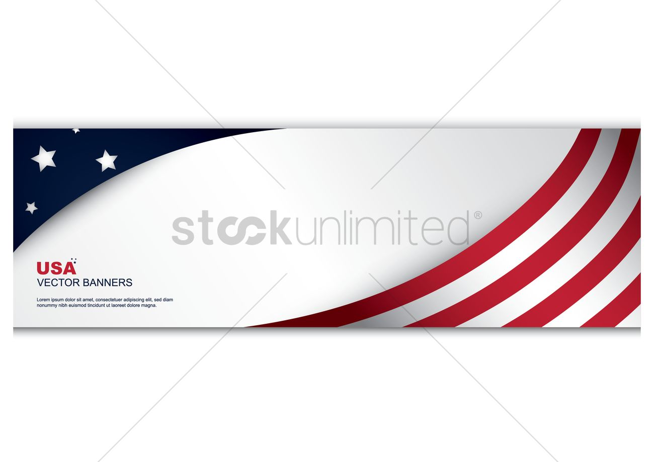 american flag banner vector image 1492882 stockunlimited