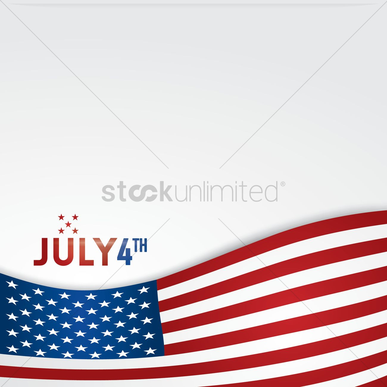 American independence day poster Vector Image - 1530538 | StockUnlimited