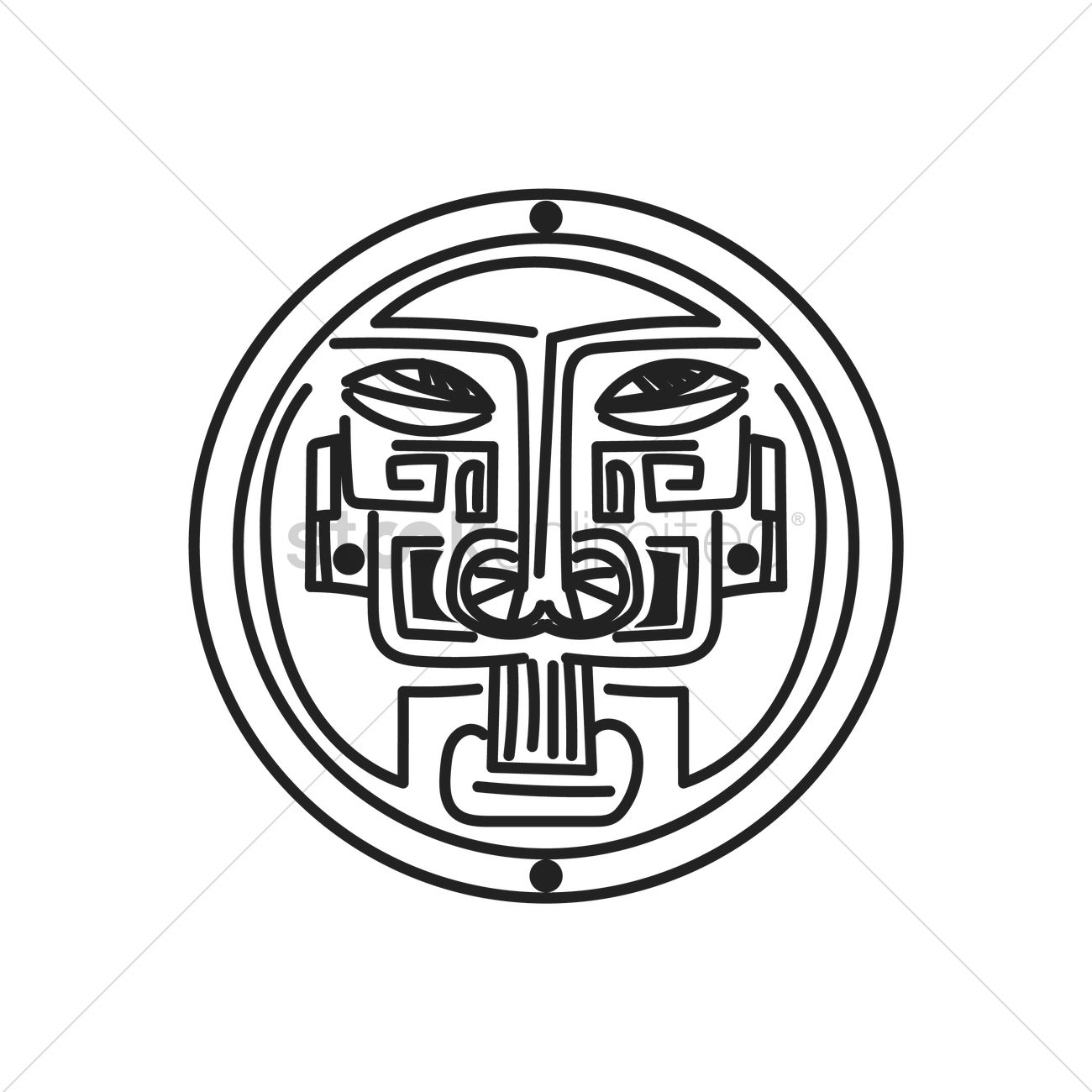 Ancient Mexican Motif Vector Image 1621754 Stockunlimited