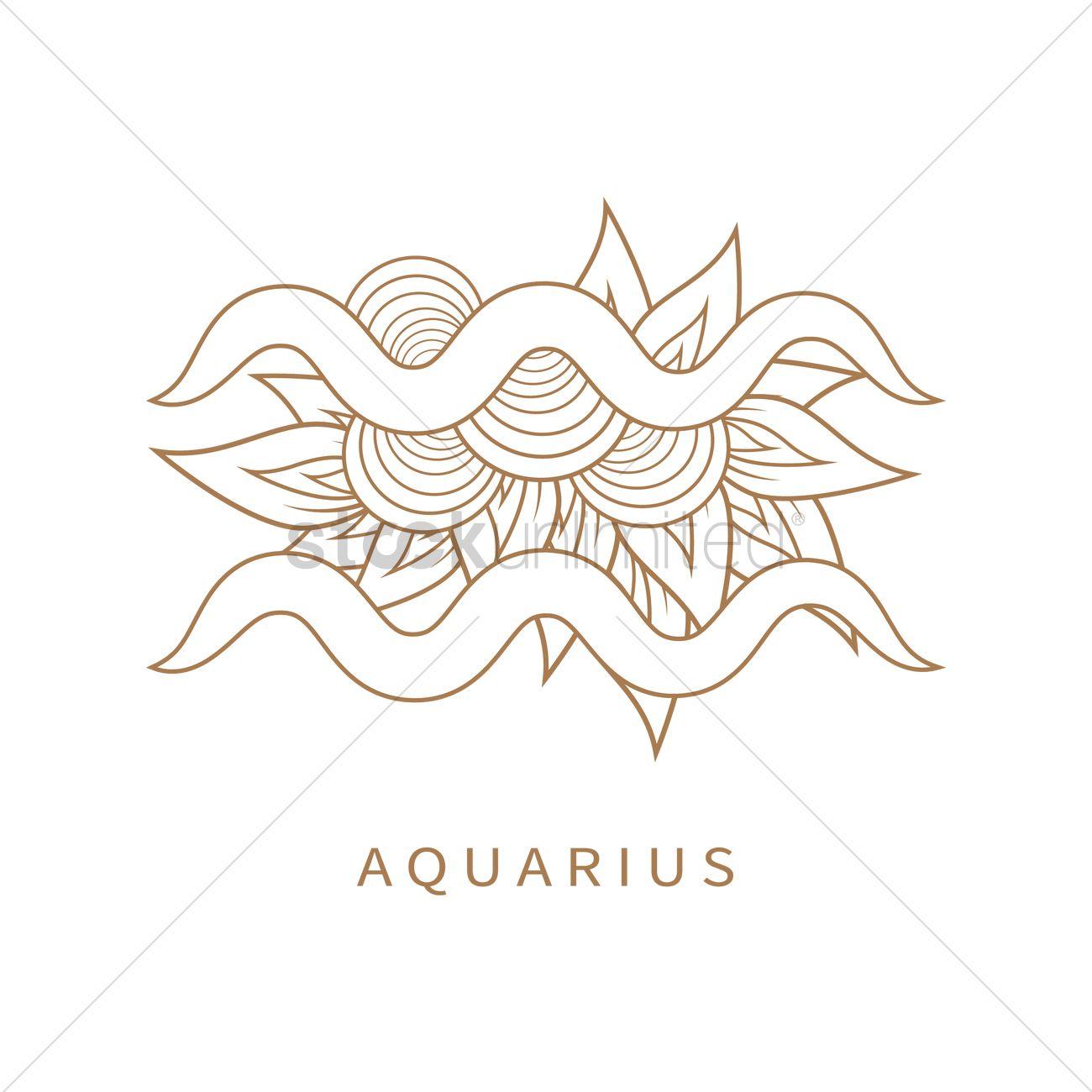 Aquarius Symbol Vector Image 1964286 Stockunlimited