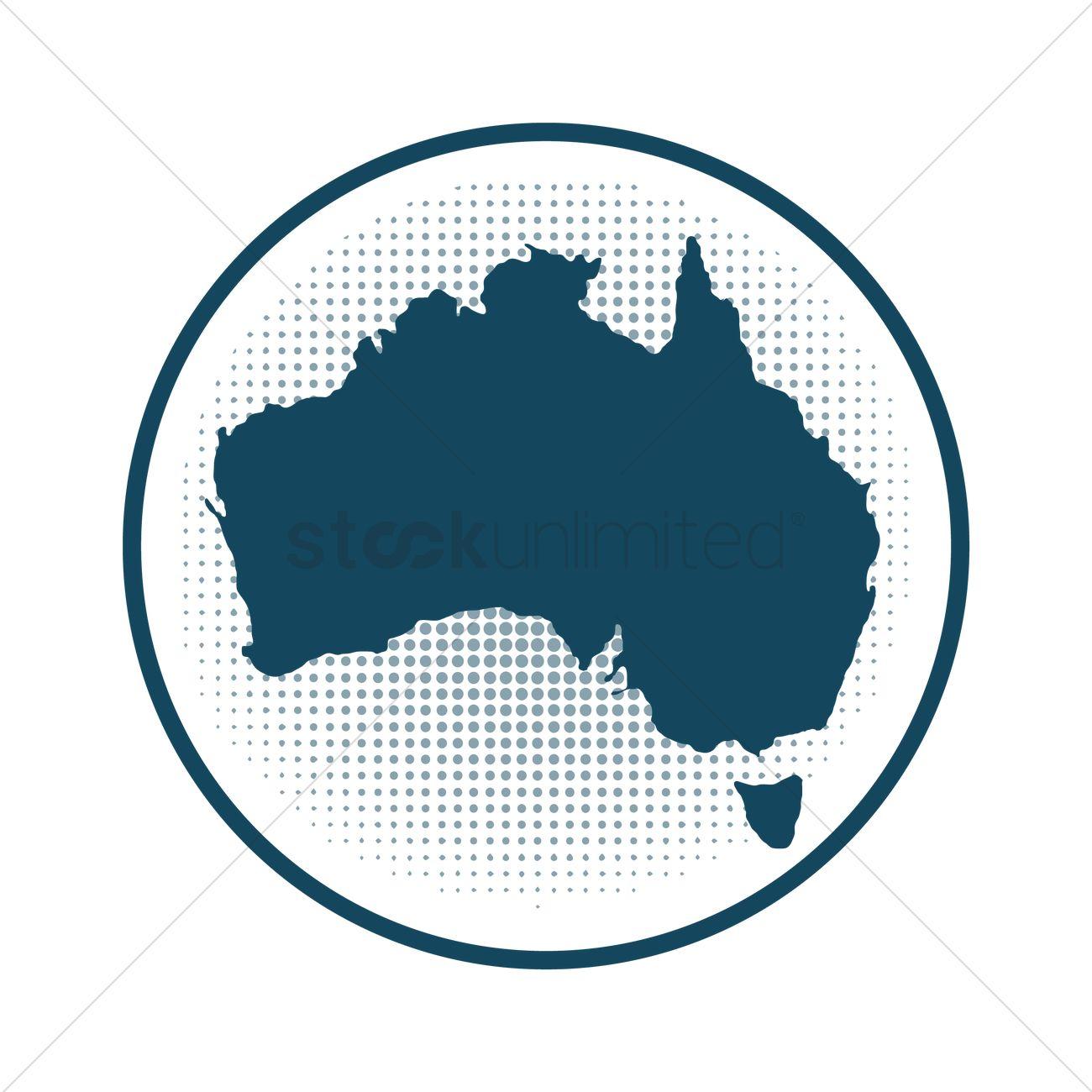 Australia map badge vector image 1949462 stockunlimited australia map badge vector graphic gumiabroncs Choice Image