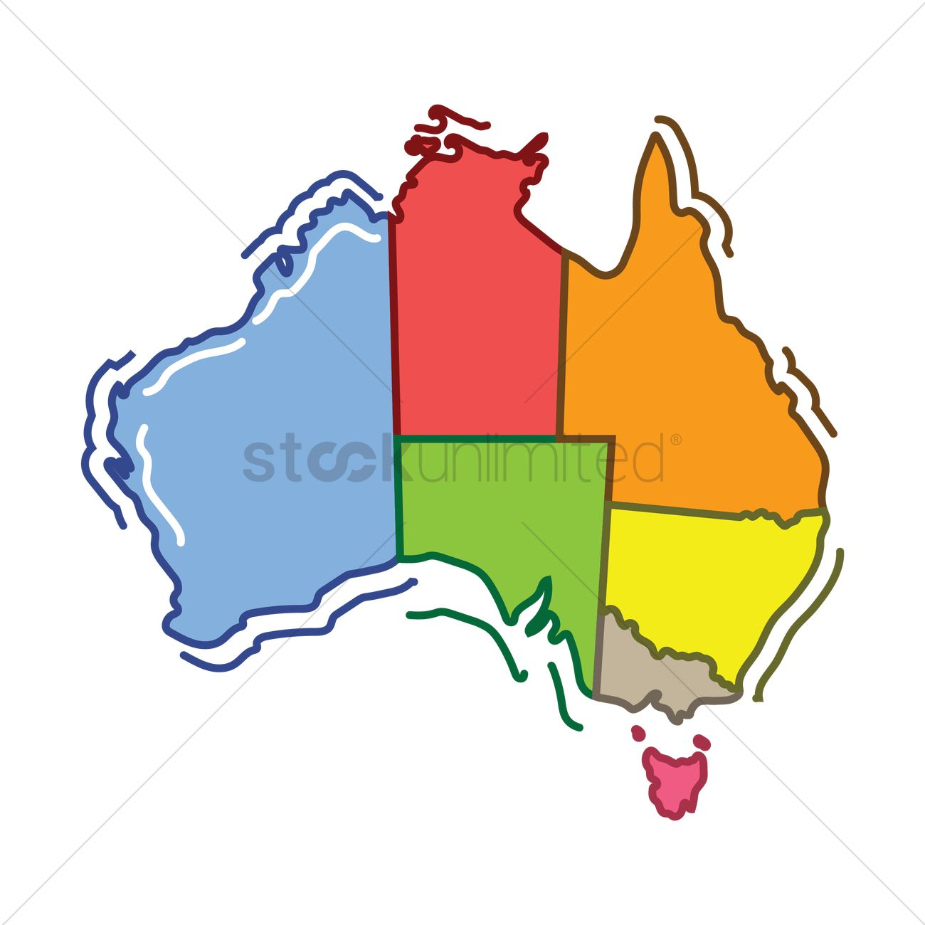Australia map with division vector image 1949554 stockunlimited australia map with division vector graphic gumiabroncs Image collections