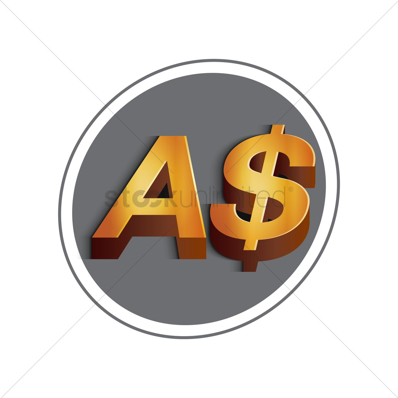 Australian dollar currency symbol vector image 1611894 australian dollar currency symbol vector graphic biocorpaavc Image collections