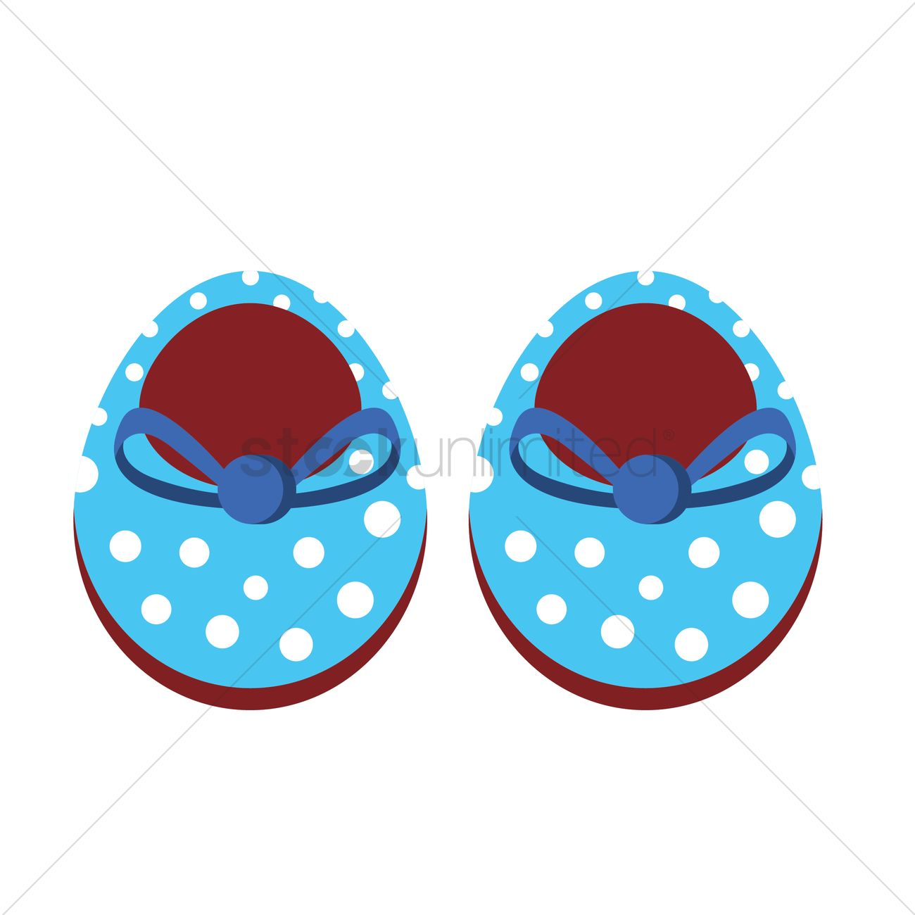 Baby Shoes Vector Image 1243690 Stockunlimited