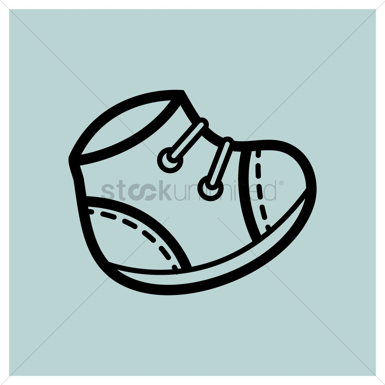 Baby Shoes Vector Image 1317490 Stockunlimited