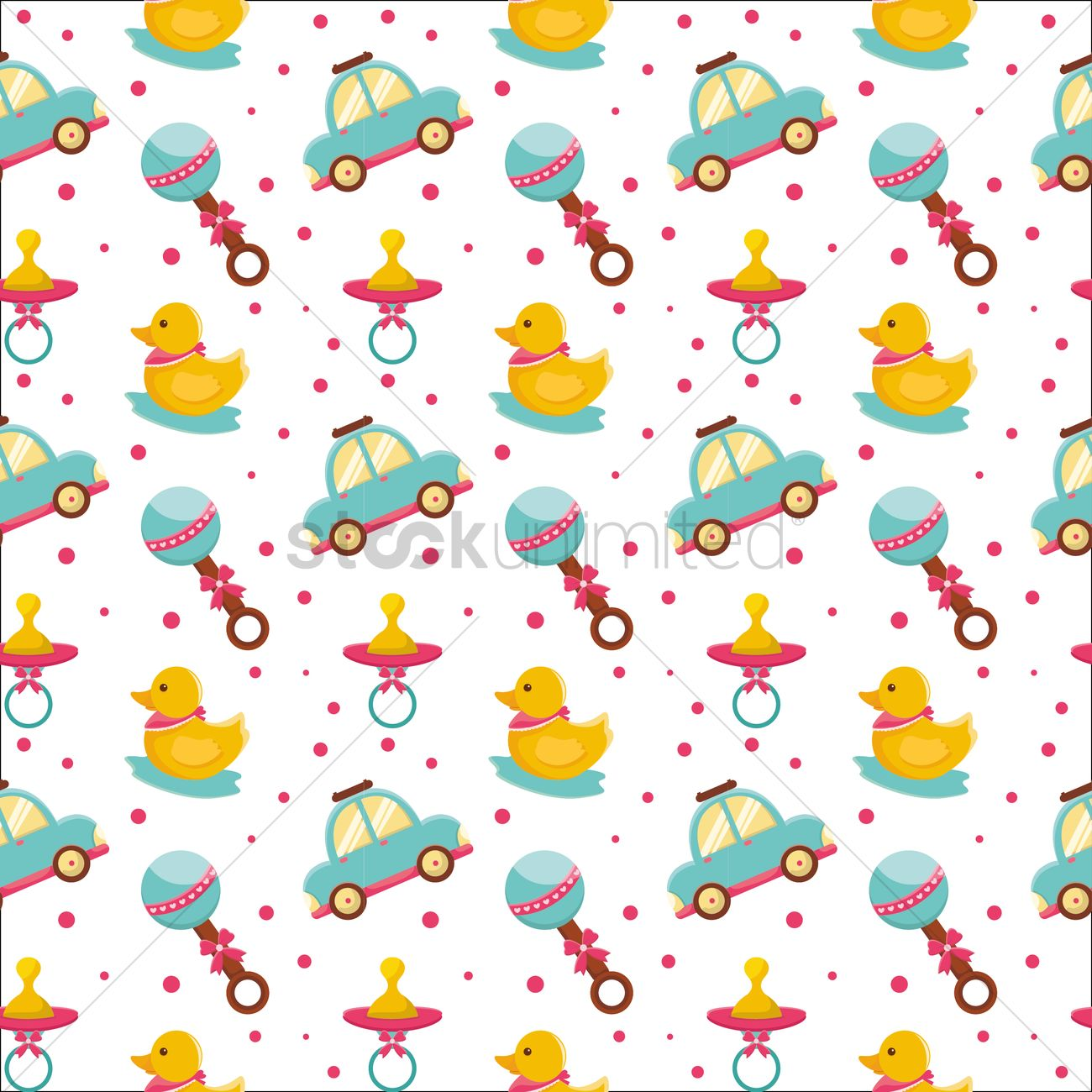 Free Baby Toys Background Vector Image 1293138 Stockunlimited