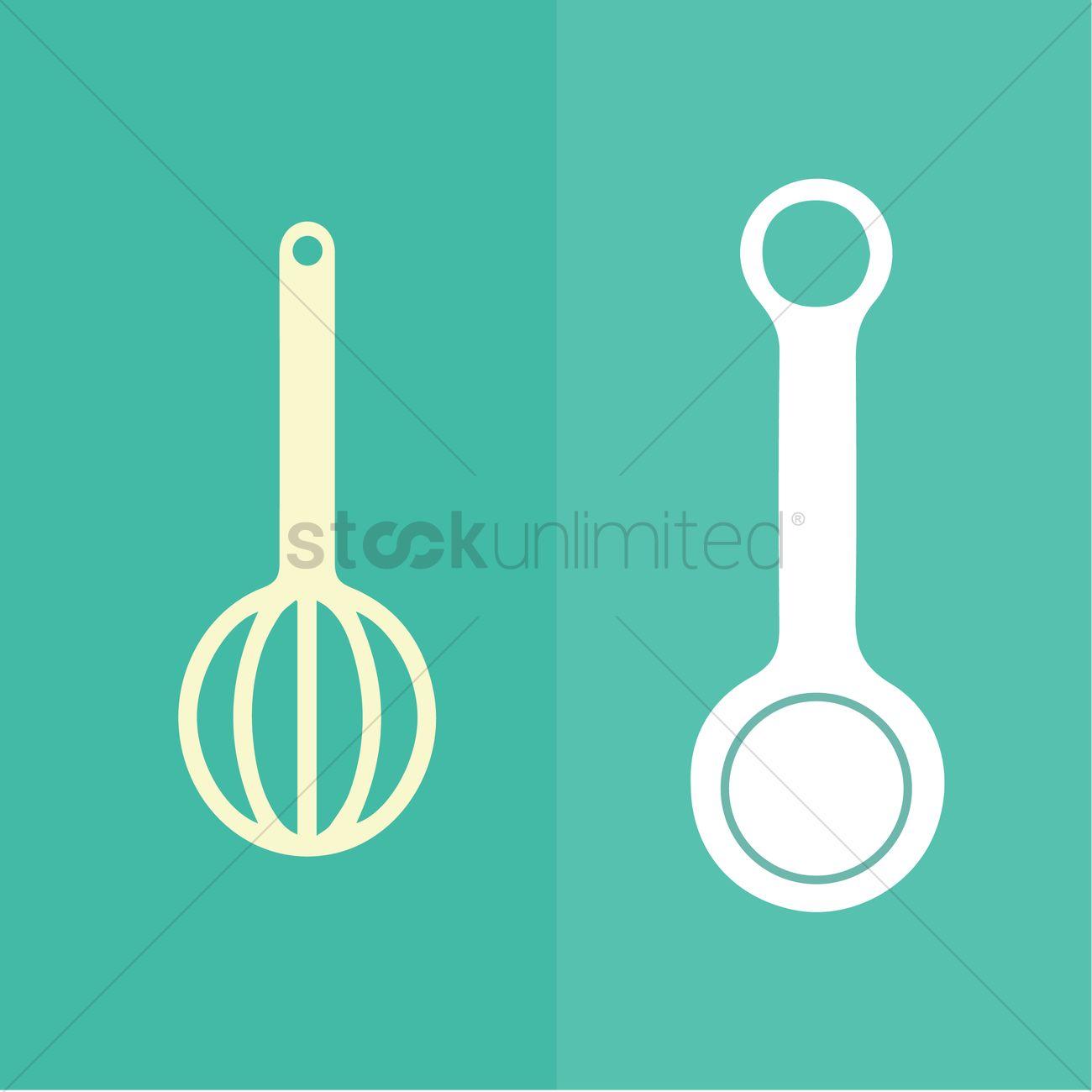 Baking utensils Vector Image - 1471710   StockUnlimited