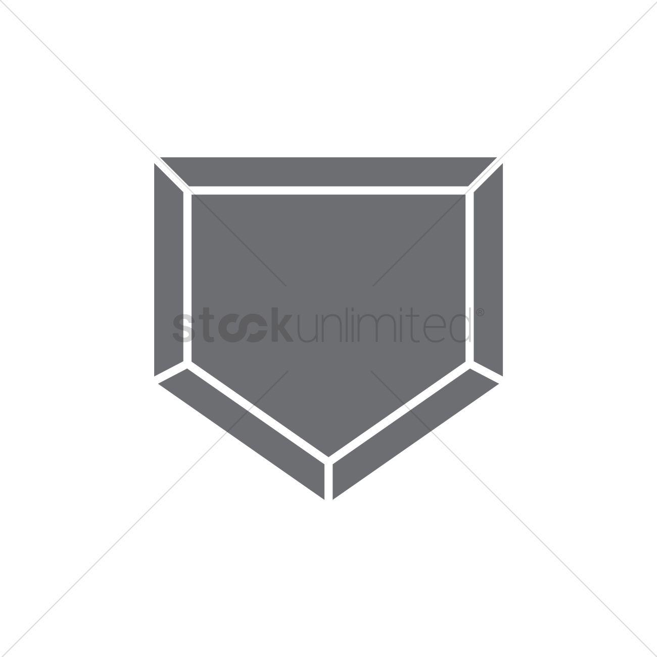 free baseball home plate stock vectors stockunlimited rh stockunlimited com Dirty Baseball Home Plate Baseball Home Plate Clip Art