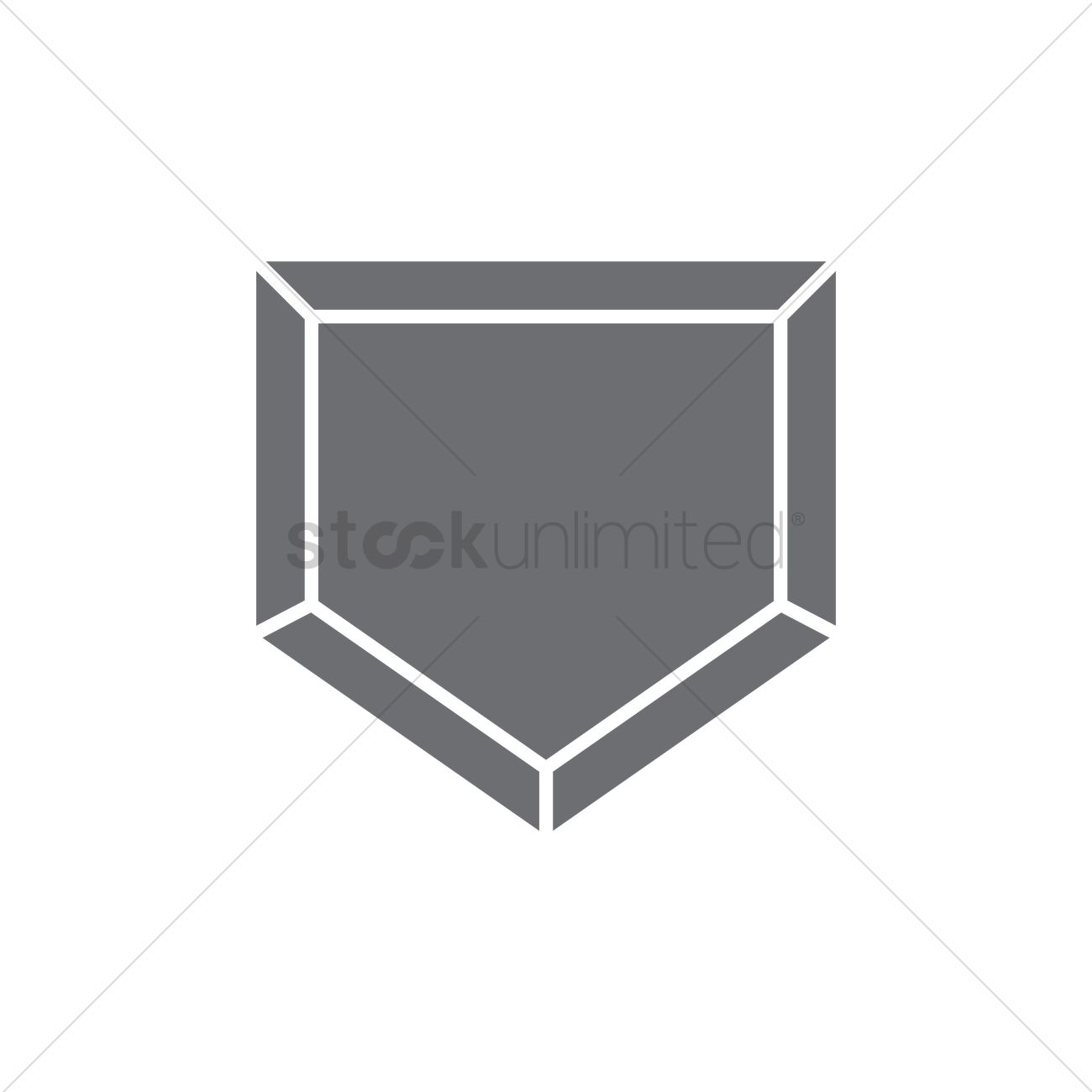baseball home plate vector image 1983526 stockunlimited