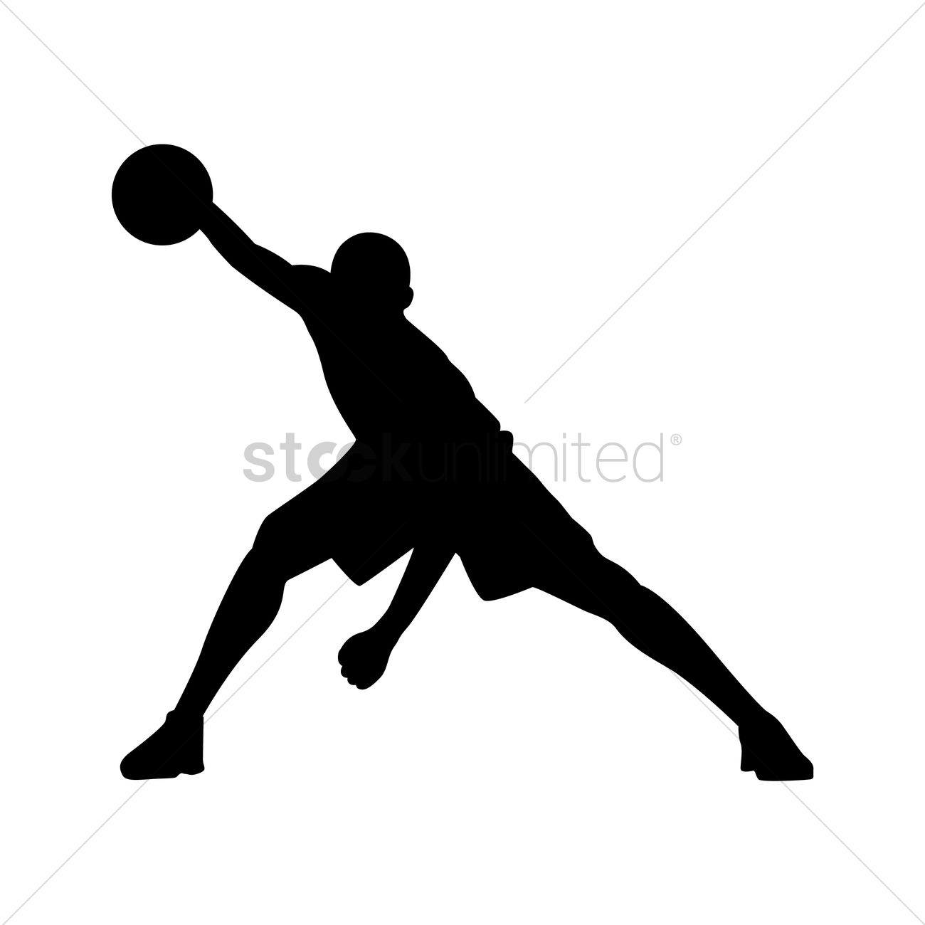basketball player in action vector graphic