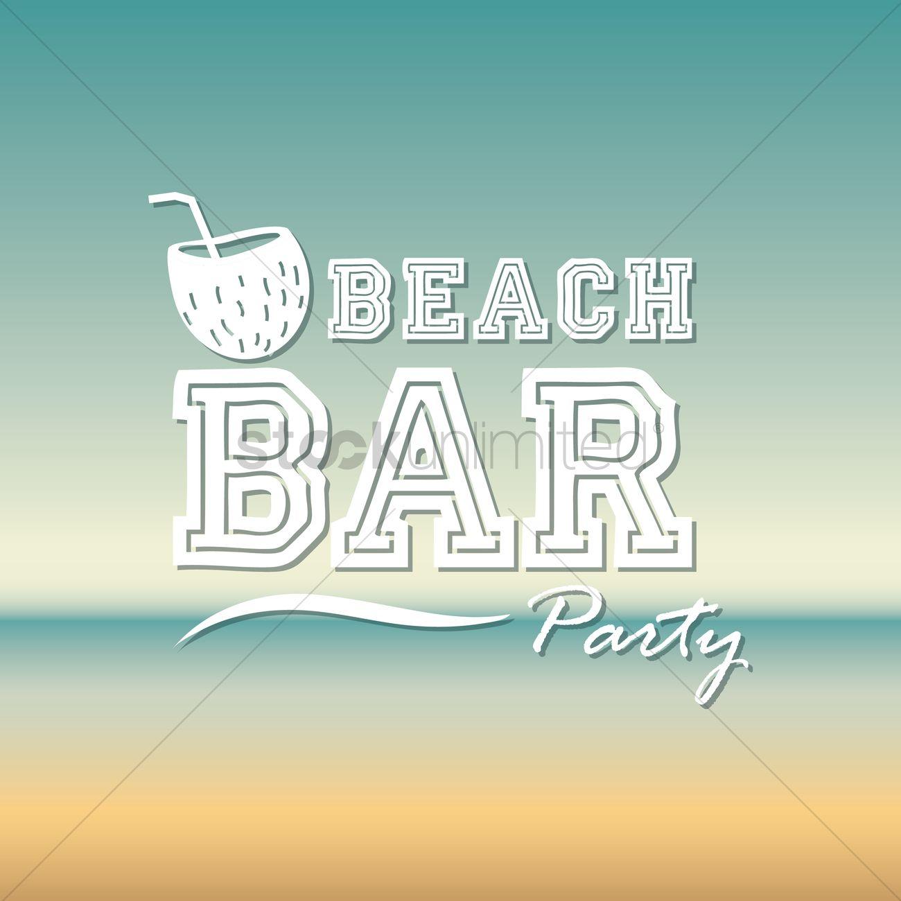 Beach Bar Party Wallpaper Clipart Vetorizados 1617846