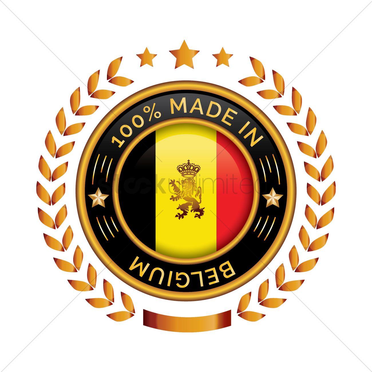 Belgium badge vector graphic