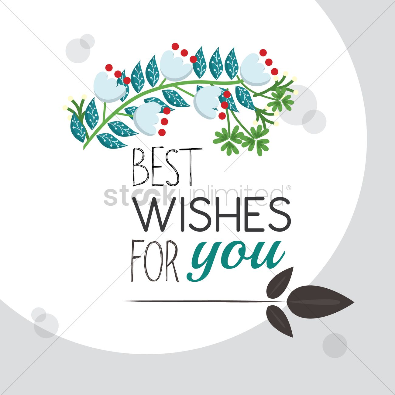 Best Wishes For You Greeting Vector Image