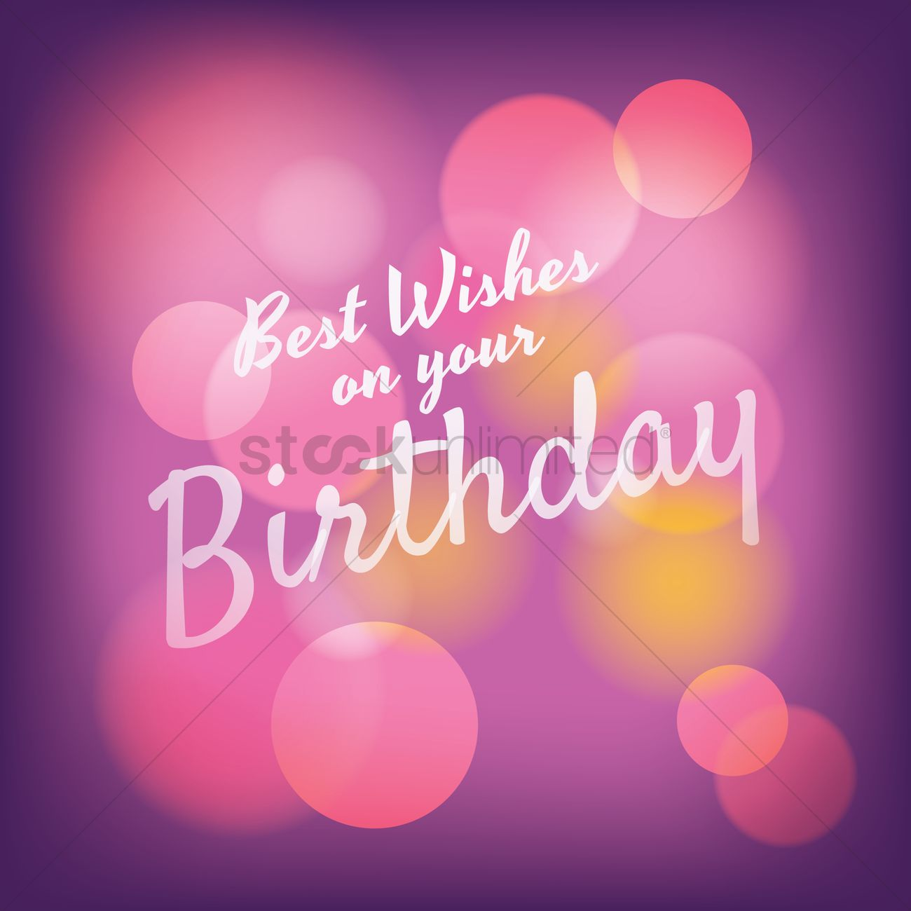 Best Wishes On Your Birthday Greeting Vector Image