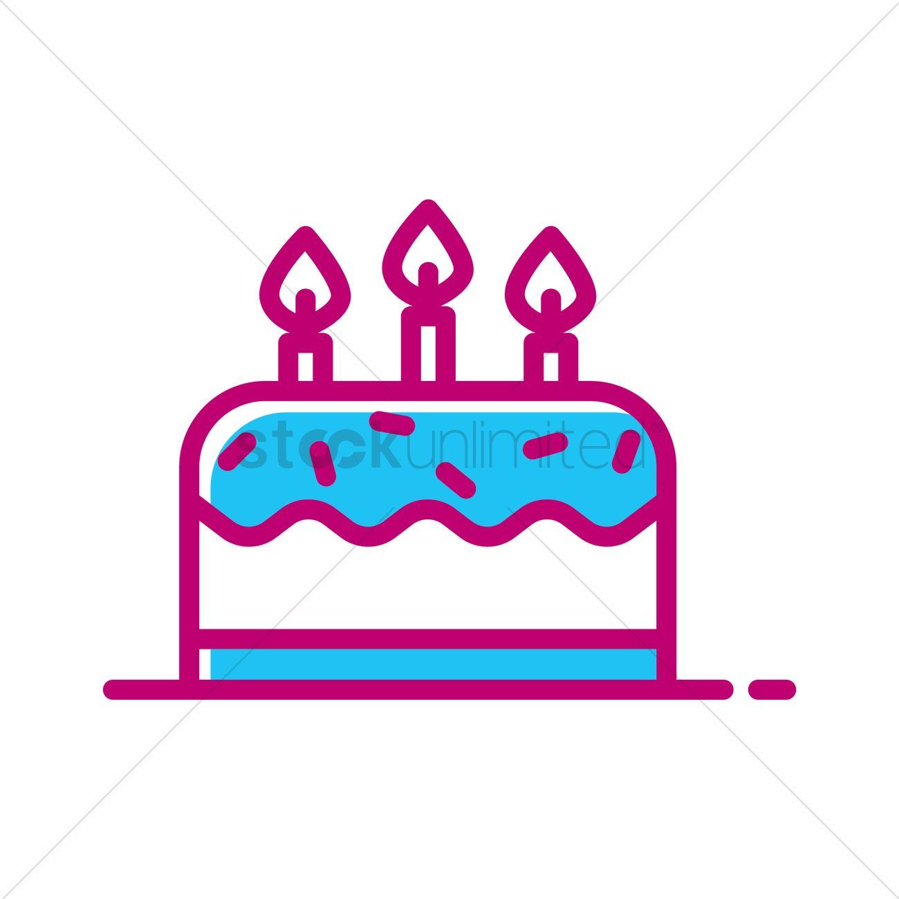 Birthday cake Vector Image 1992354 StockUnlimited