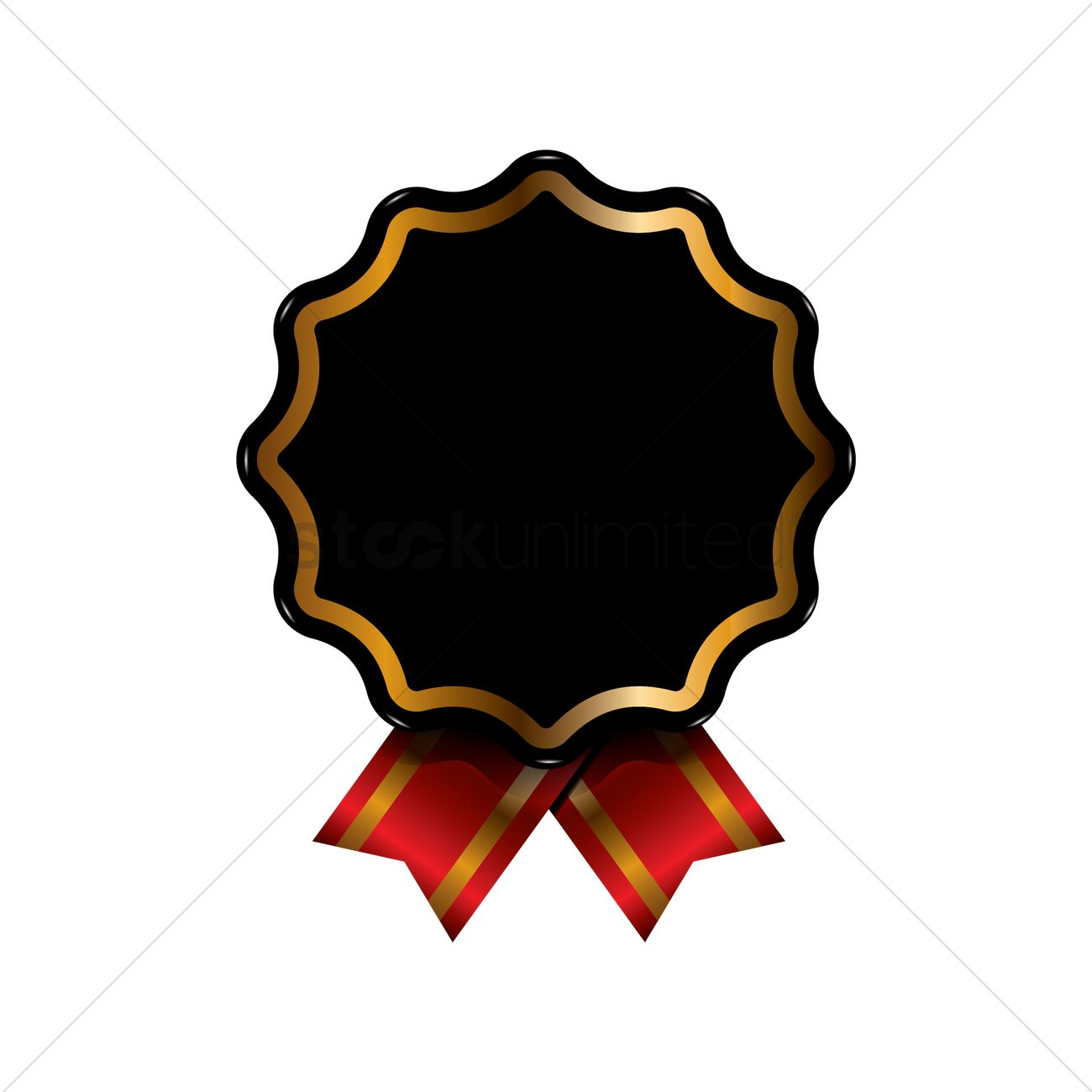 black and gold badge design vector image 1959186