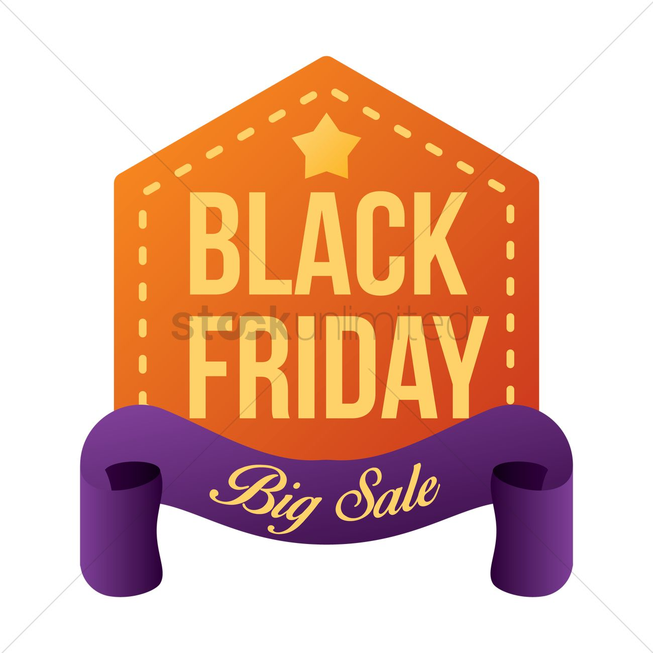 Black Friday Sale Sticker Vector Image 1819930 Stockunlimited