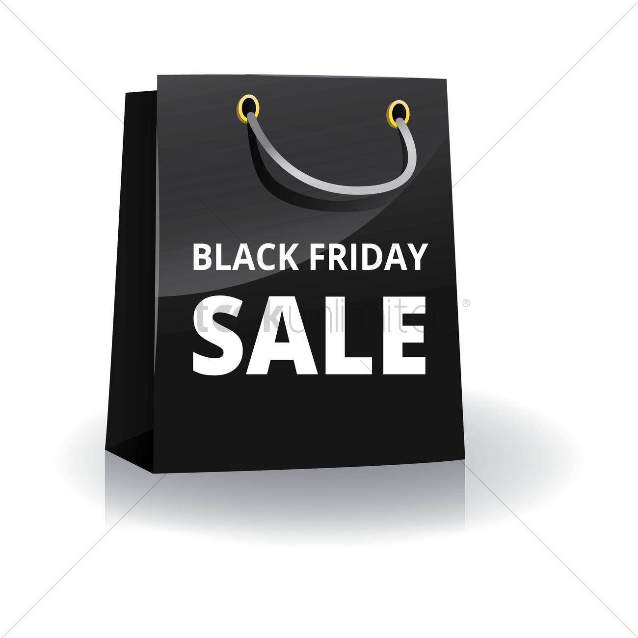 5ba54dfed71b Black friday shopping bag Vector Image - 1603894