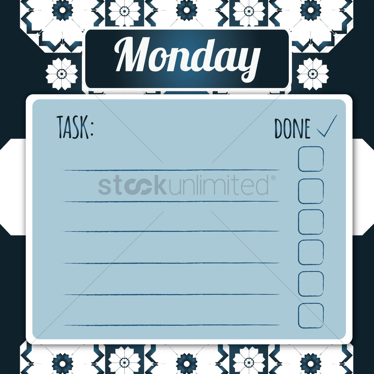 blank daily checklist template vector image - 1480046 | stockunlimited