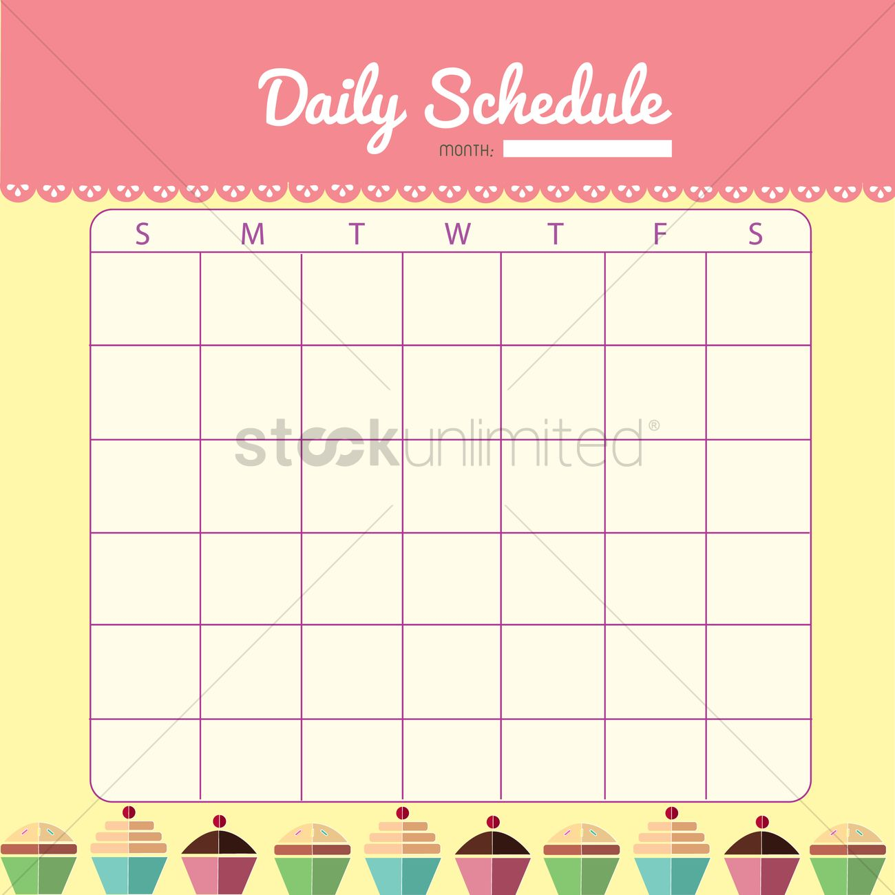 image regarding Blank Daily Schedule identify Blank day by day planner template style and design Vector Impression - 1480022