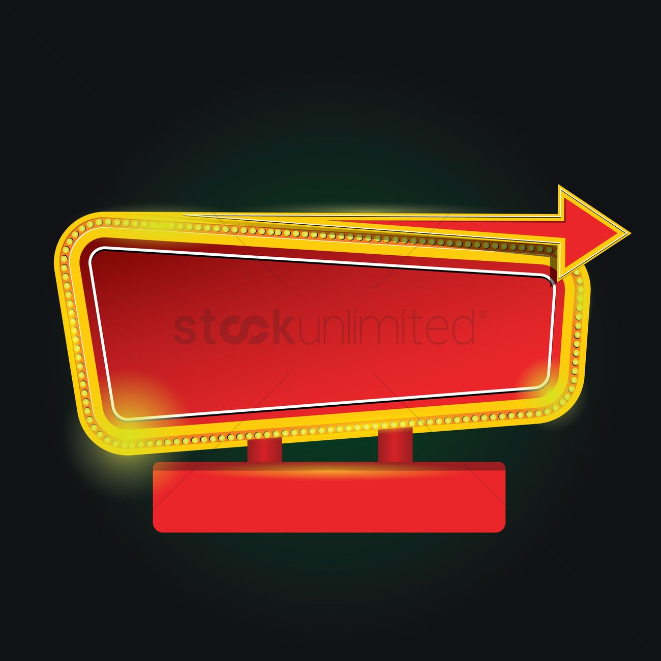 Blank marquee sign Vector Image - 1560518   StockUnlimited