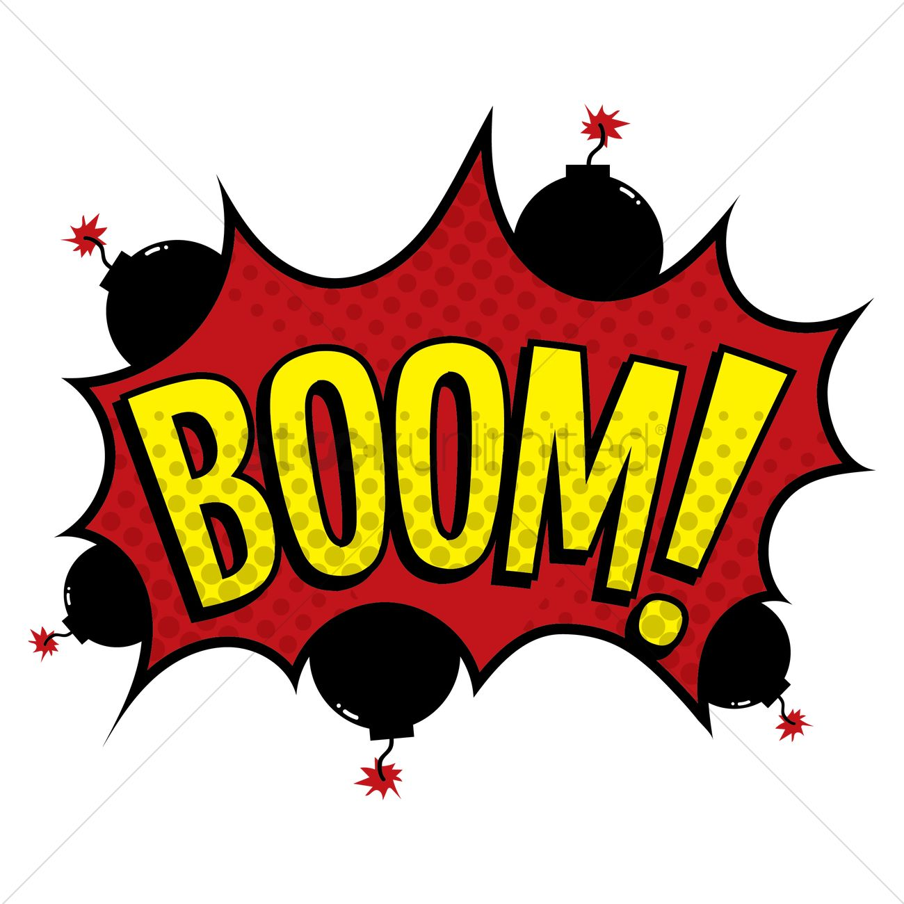 boom text with comic effect vector image 1822982 stockunlimited
