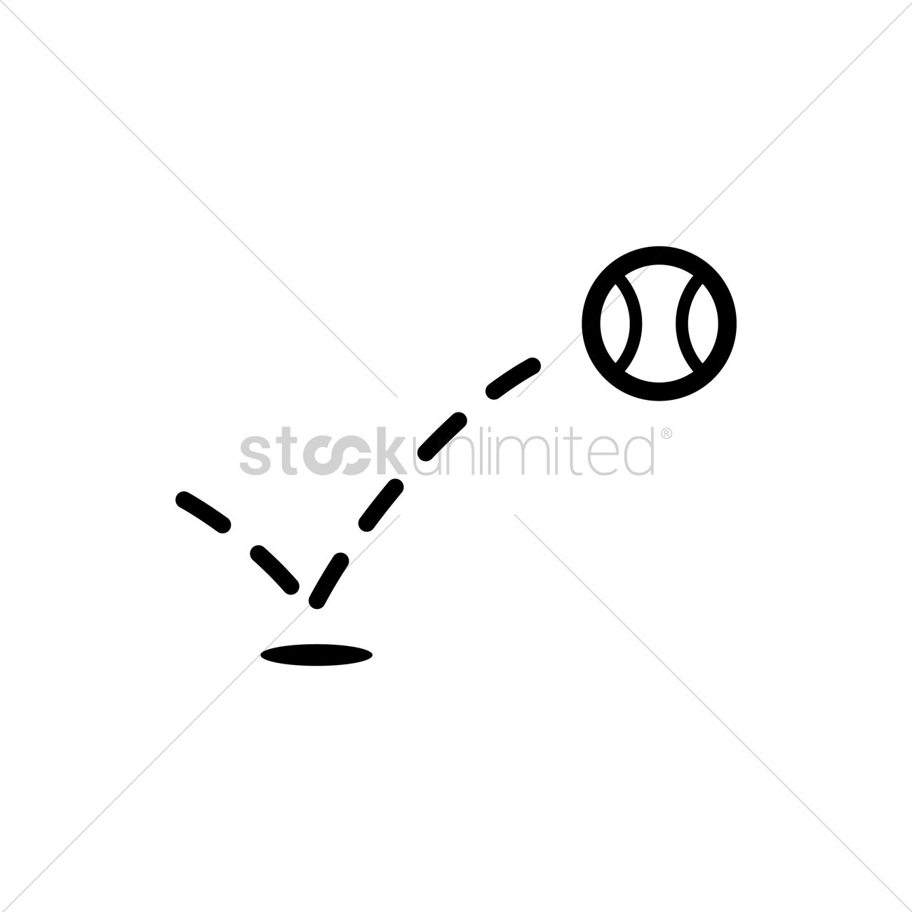 Bouncing Tennis Ball Vector Image 1979534 Stockunlimited