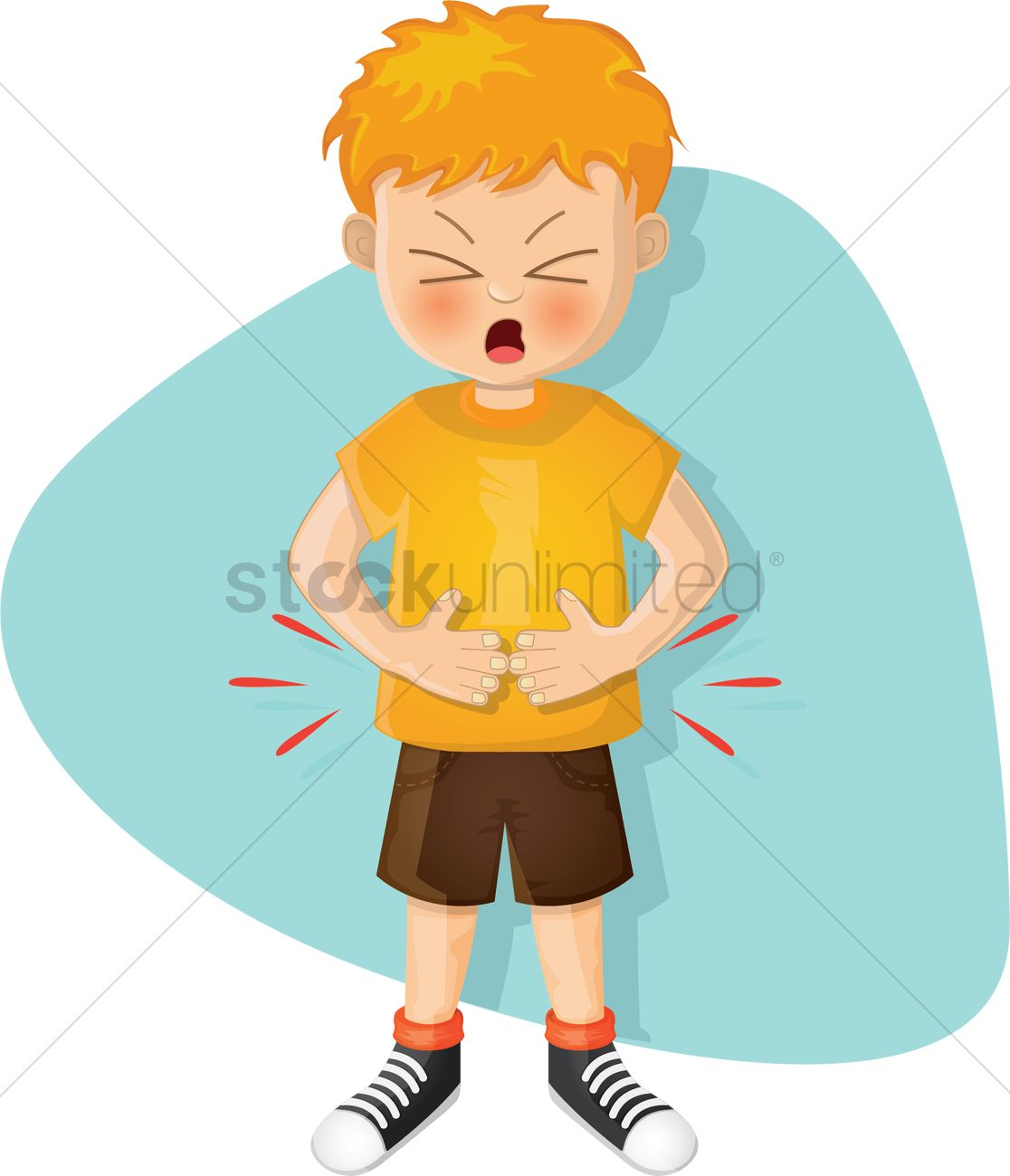 Boy With Stomachache Vector Image 2021130 Stockunlimited