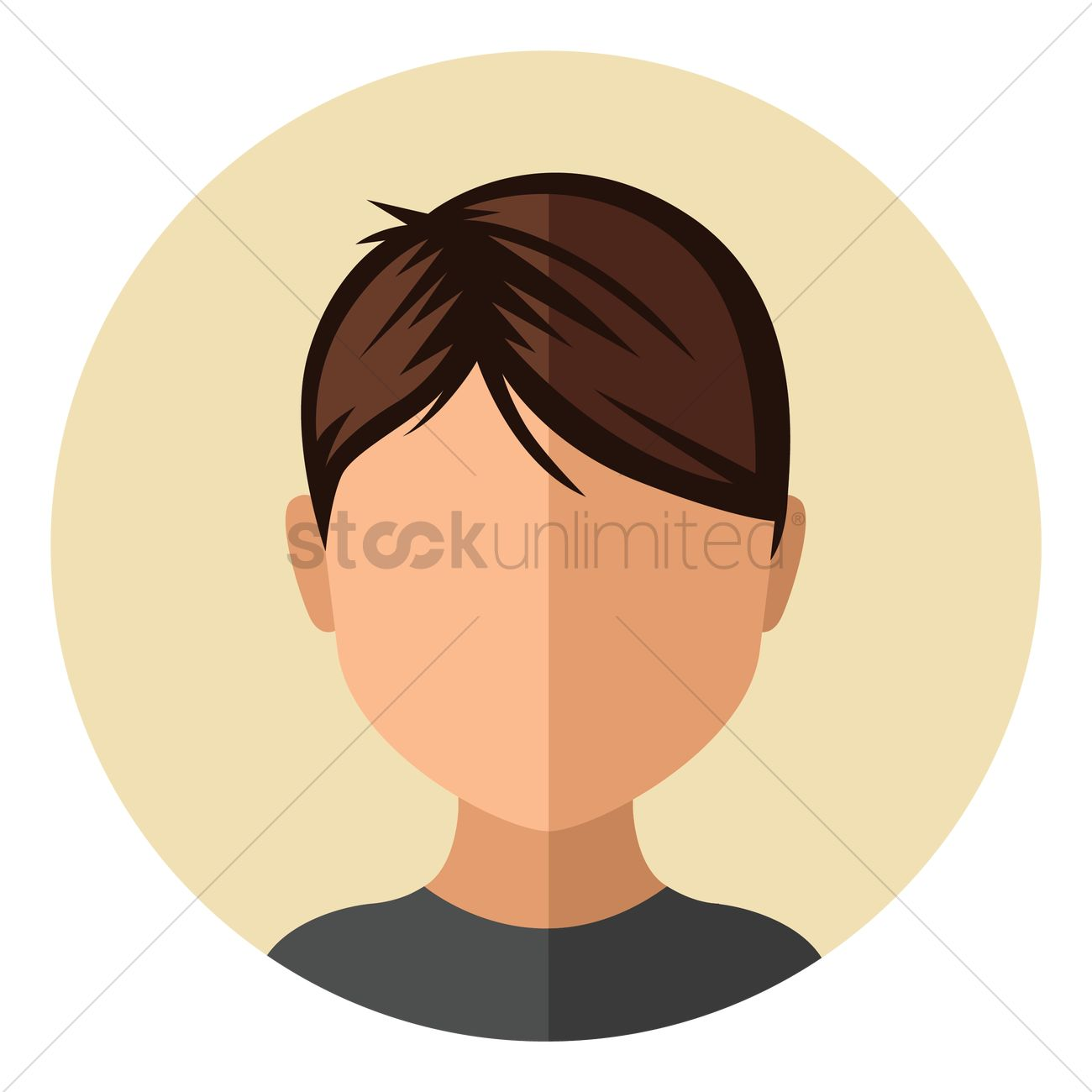 Boy With Trendy Short Hairstyle Vector Image 1451202 Stockunlimited
