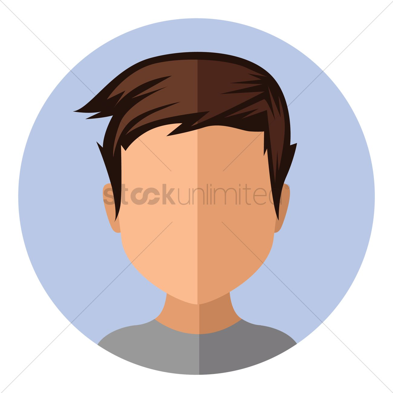 Boy With Trendy Short Hairstyle Vector Image 1451214 Stockunlimited