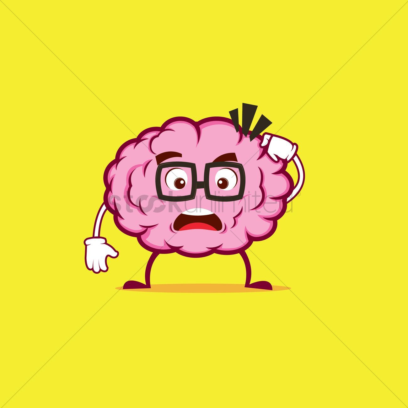 Brain Character Confused Vector Image 1310774