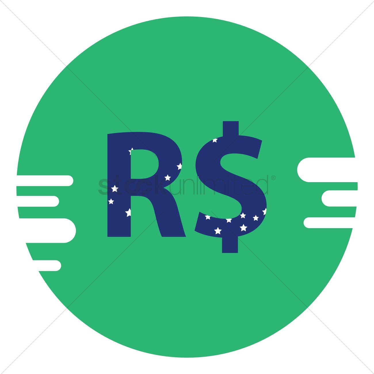 Brazilian Real Symbol Vector Image 1572790 Stockunlimited