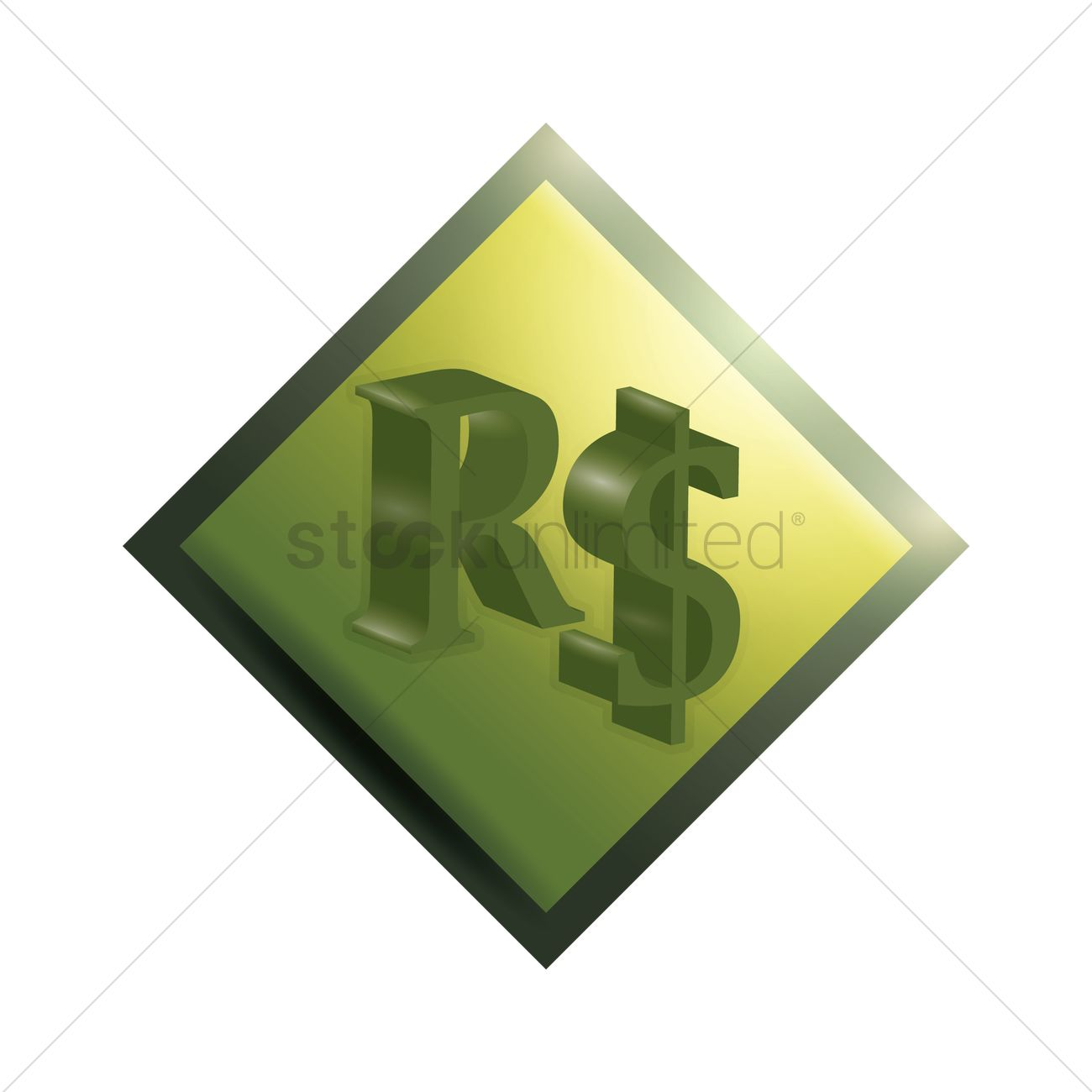 Brazilian Real Symbol Vector Image 1632018 Stockunlimited